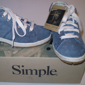 Simple Cute Slate Blue Leather Suede Oxford Size 7